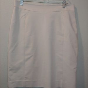 H&M Pencil Skirt Blush Ivory Suiting Office 12